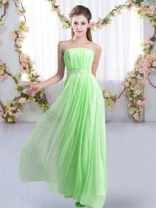 Pretty Sleeveless Beading Lace Up Court Dresses for Sweet 16