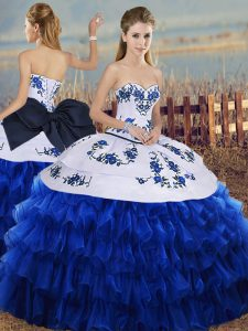 a1079d32794 ... Up Sleeveless Floor Length.  426.01  255.01  Royal Blue Vestidos de  Quinceanera Military Ball and Sweet 16 and Quinceanera with Embroidery and  Ruffled