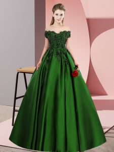Floor Length A-line Sleeveless Green Quinceanera Gown Zipper