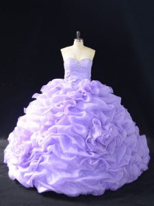 Delicate Ball Gowns Sleeveless Lavender Sweet 16 Dress Lace Up