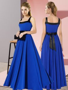 Chiffon Sleeveless Floor Length Vestidos de Damas and Belt