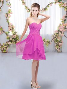 Custom Fit Sleeveless Ruffles and Ruching Lace Up Quinceanera Court Dresses