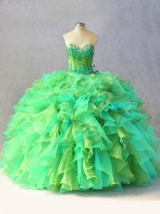 Simple Sweetheart Sleeveless Lace Up Sweet 16 Quinceanera Dress Multi-color Organza