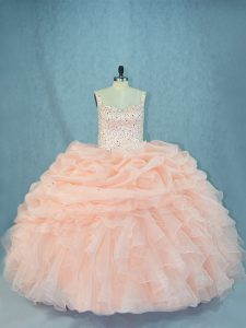 Sleeveless Lace Up Beading Sweet 16 Quinceanera Dress