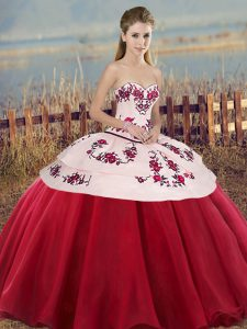 Modern Sleeveless Lace Up Floor Length Embroidery and Bowknot Quinceanera Dresses