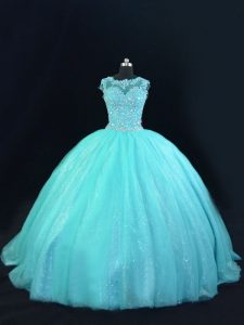 Chic Sleeveless Beading and Lace Lace Up Quinceanera Dresses