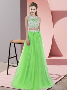 Custom Made Sleeveless Tulle Zipper Court Dresses for Sweet 16 for Wedding Party