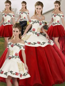 102d9251ba  384.99  234.49  White And Red Ball Gown Prom Dress Military Ball and Sweet  16 and Quinceanera with Embroidery