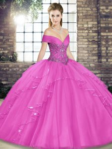 Excellent Floor Length Ball Gowns Sleeveless Lilac Sweet 16 Quinceanera Dress Lace Up