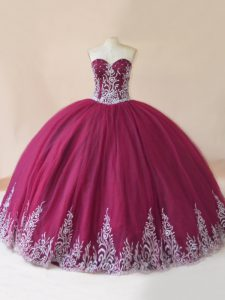 Unique Sleeveless Lace Up Floor Length Embroidery Vestidos de Quinceanera
