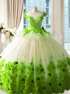 Stunning Sleeveless Tulle Zipper Quinceanera Dress for Sweet 16 and Quinceanera