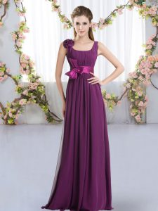 Best Sleeveless Belt and Hand Made Flower Zipper Court Dresses for Sweet 16