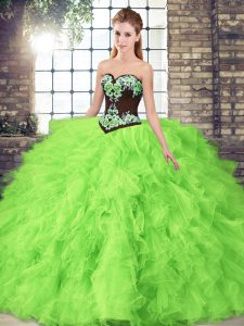 Best Ball Gowns 15 Quinceanera Dress Sweetheart Tulle Sleeveless Floor Length Lace Up