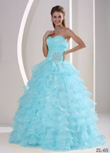 Ruffles Appliques and Ruching Quinceaneras Gowns for Military Ball