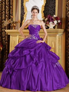 Perfect Appliqued Eggplant Purple Dress for Quince online Stores