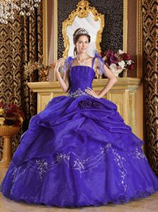 New Arrival Spaghetti Straps Appliqued Purple Sweet 16 Dresses