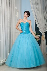 Princess Sweetheart Beading Ruches Bodice Quinceanera Dresses