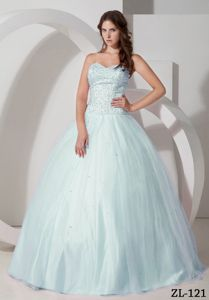 Sweetheart Ball Gown Beading Pleats Decorate Sweet 15 Dresses