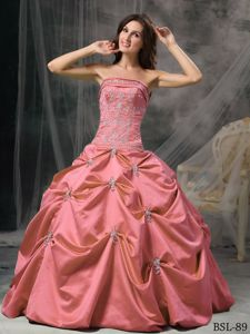 Most Popular Strapless Appliques and Pick-ups Quinces Dresses
