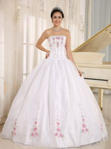 Two-toned Sweetheart Ruffles Dresses Quinceanera with Appliques
