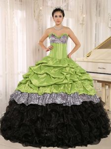 Court Train Sweetheart Pick-ups Sweet 16 Dress with Embroidery