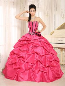 Newest Organza Beading Strapless Quinceanera Gowns in Organza