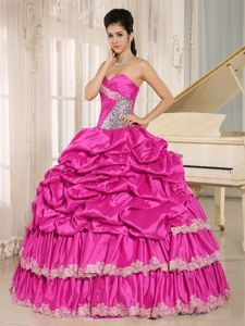 Two-toned Organza Ruffles Quinceanera Party Dresses with Ruches