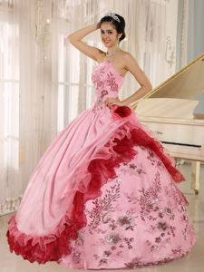 New Beading Appliques Strapless Dresses Quinceanera with Ruffles