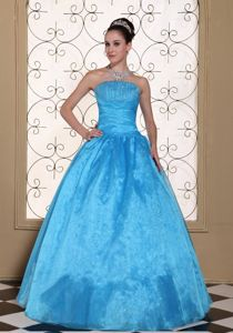 the Brand New Style Strapless Quinceanera Dresses with Beading