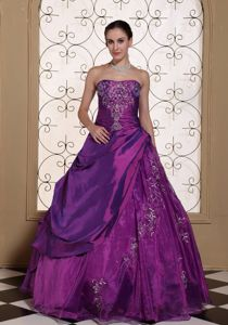 Modest Ball Gown Embroidery Quinceanera Gown Dress Ball Gown