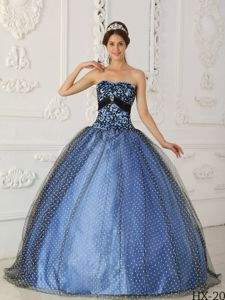 Special Two-toned Strapless Beading and Appliques Sweet 15 Dress