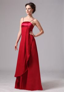 Wine Red Dama Quinceanera Dress with Straps in Chiffon and Satin