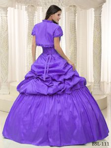 Fitted Purple Sweetheart Quinceanera Party Dresses with Appliques