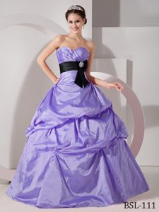 Lilac Pick-ups Quinceanera Party Dresses with Ruched Sweetheart