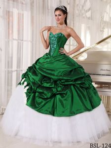 Customize Embroidery Pick-ups Quinceanera Dresses Floor-length