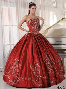 Perfect Rust Red Ball Gown Quinceanera Dresses with Embroidery