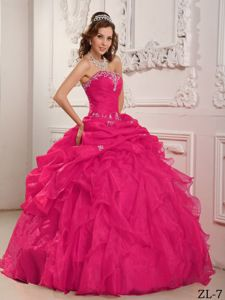 Most Recent Coral Red Ruffles Sweet Sixteen Dress with Appliques