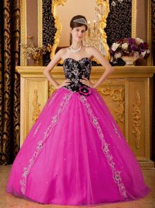 Polished Beading Tulle Quinceanera Party Dresses with Appliques