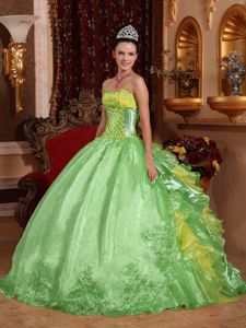 Unique Sweetheart Embroidery Quinceanera Dresses with Ruffles
