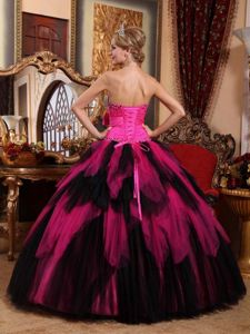 Wonderful Strapless Lace up Back Ruffled Beading Dress for Quince