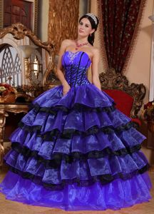 Chic Multi-colored Sweetheart Ruched Bust Tiered Dress for Quince