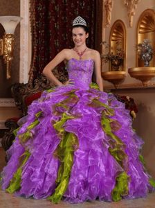 Exclusive Ball Gown Strapless Ruffled Beading Quinceanera Dresses