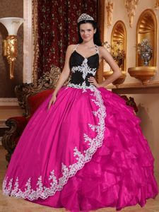 Multi-colored Halter Top Pleats and Ruffles Sweet Sixteen Dresses