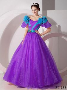 Princess Short Puff Sleeves Two-toned Quinceanera Gown Dress