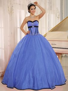Custom Made Beaded Fitted Blue Sweet Sixteen Dresses 2012
