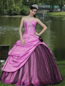 2013 High Quality Beaded Hot Pink Quinceanera Party Dresses