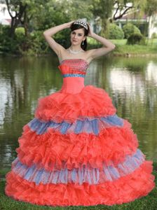 Two-toned Sequins Beaded Tiered Sweet Sixteen Dresses Online