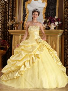 Impressive Light Yellow Ball Gown Dreaming Quinceanera Dress for Girls