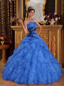 Sweetheart Organza Ruffled Layers Design Quinceanera Gowns 2013