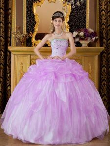 Ball Gown Quinceanera Dress in Lilac with Floor-length